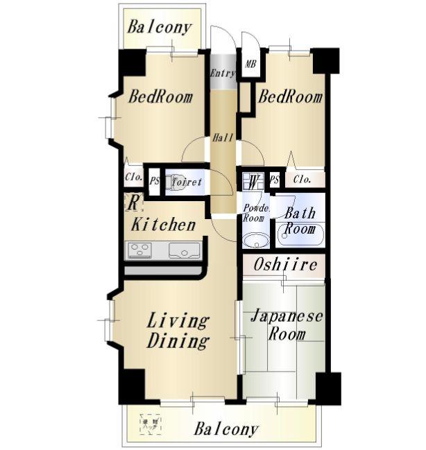 ライオンズマンションひばりヶ丘 304号室