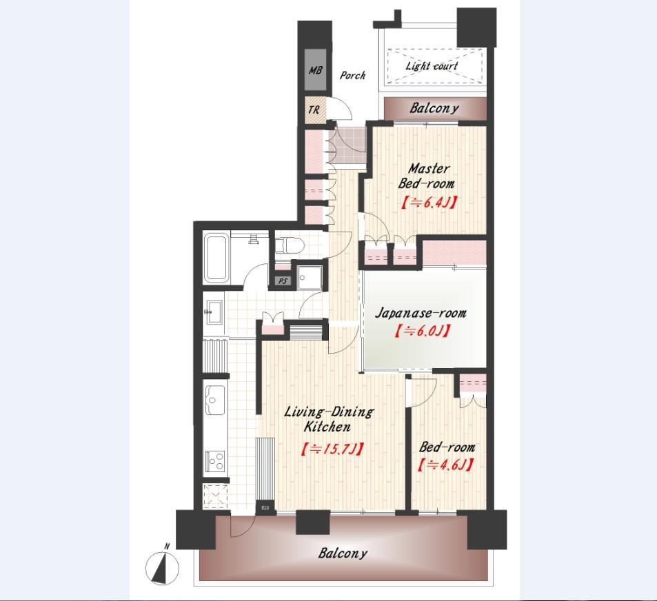 オルトヨコハマビューポリス イーストウィング 1102号室